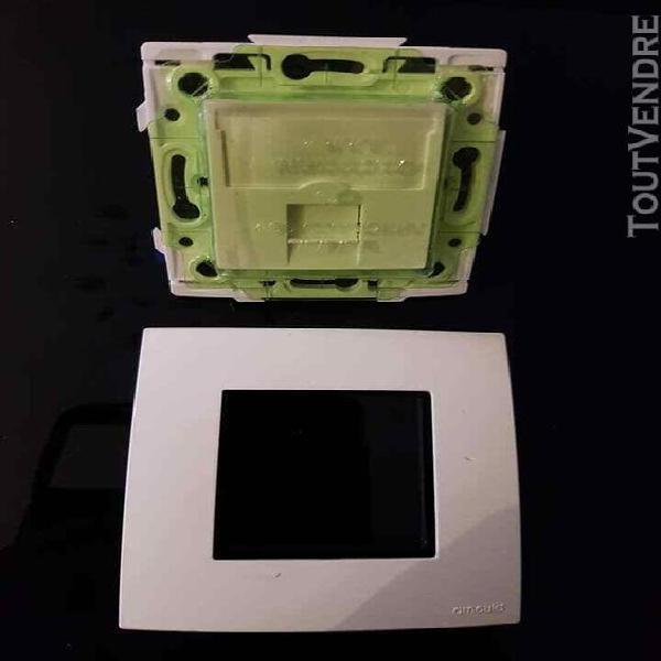 arnould espace prise rj45 cat6 stp ou ftp + plaque 60802 off