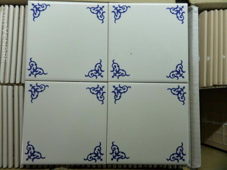 carreaux de carrelage faïence murale 10,8 x 10,8cm blanc /