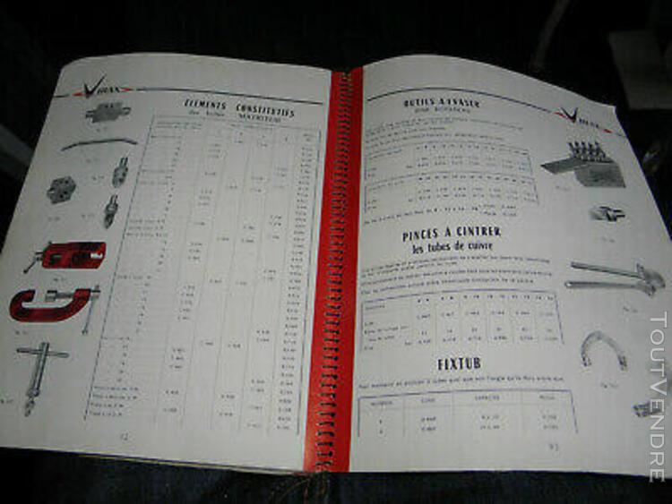 """catalogue outillage virax """" pour plombier, pour tubes - 100"""