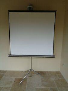 Ecran de projection manuel avec support trépied réglable