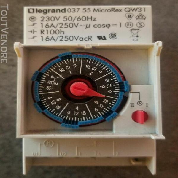 interrupteur horaires analogique legrand 03755 037 55 micror