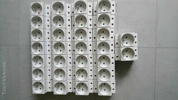 lot de 30 prises modulaires rail din tableau électrique