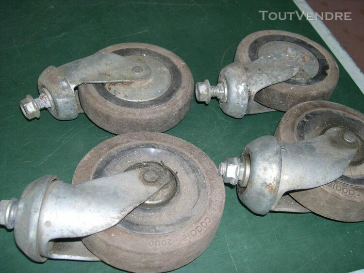 lot de 4 roue pivotante -chariot