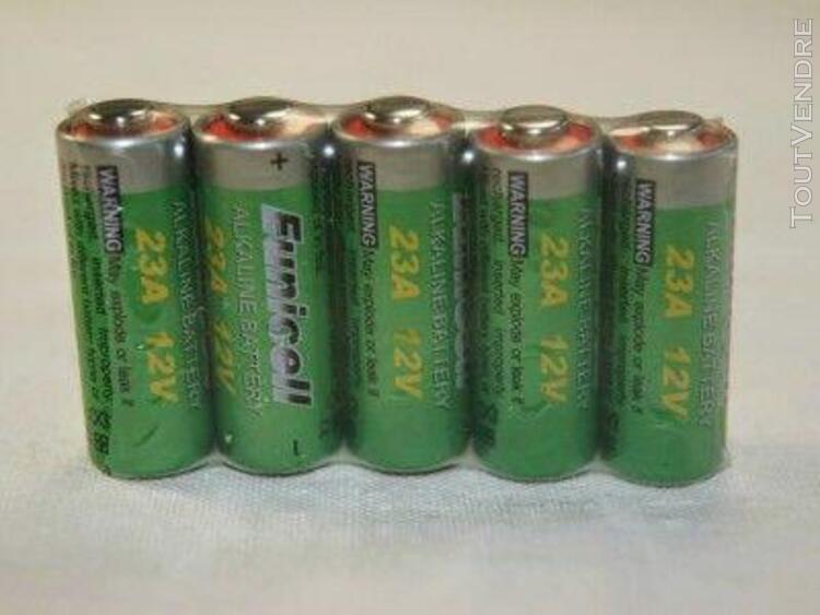 lot de 5 piles alcaline a23 / 23a 12v eunicell