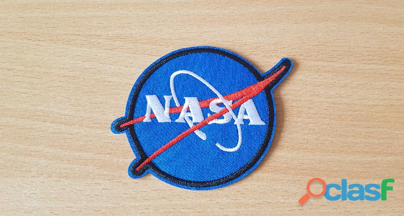 ecusson brodé logo de la nasa diamètre 8 cm thermocollant