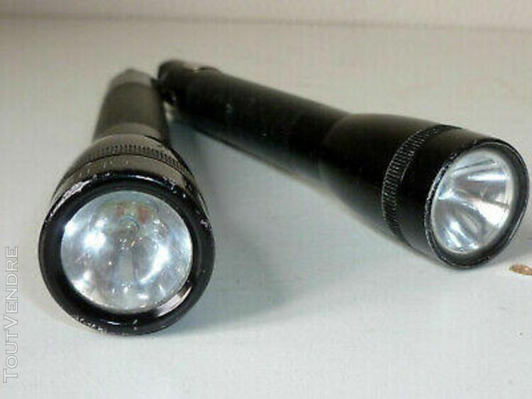 2 lampe torche maglite 14.5 cm vintage hand light