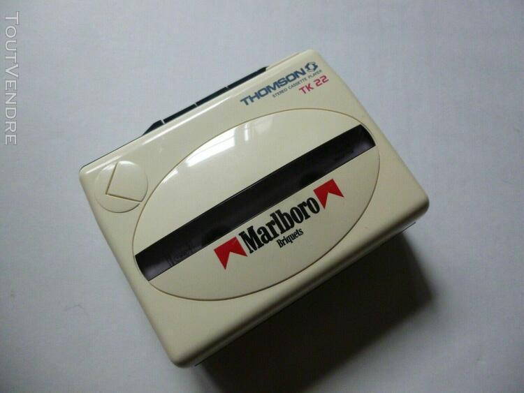 ancien walkman cassette, baladeur publicitaire