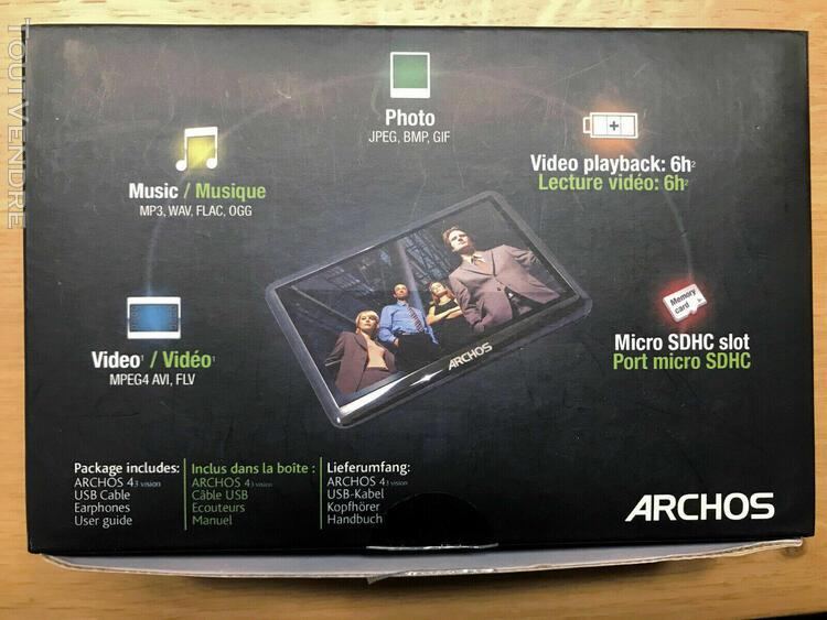 baladeur mp3 / mp4 / photo archos 43 vision noir 8 go extens