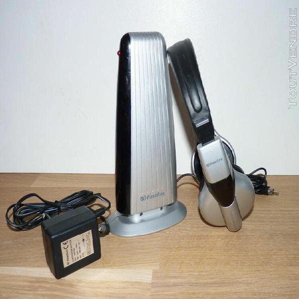 casque audio sans fil firstline - connecteur rca - sans mous