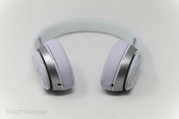 casque beats solo 2 sans fil blanc brillant version apple