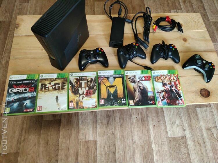 Console xbox 360 + 6 jeux