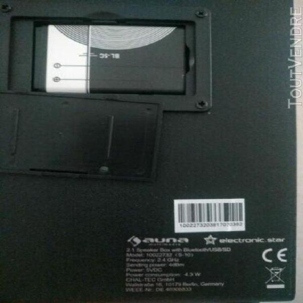 enceinte portable sur batterie auna usb bluetooth sd