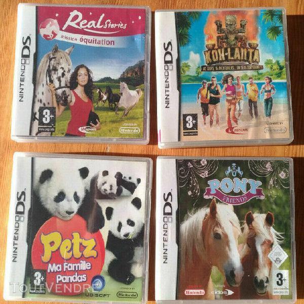 Lot 4 jeux pour nintendo ds (compatible 2ds et 3ds): pony f