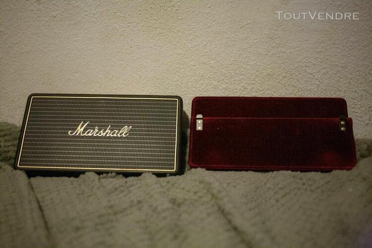 marshall stockwell noir enceinte bluetooth portative avec co