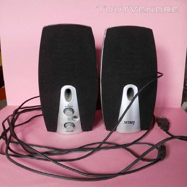 mini haut parleur prise jack usb semi hs 1/2 fonctionne