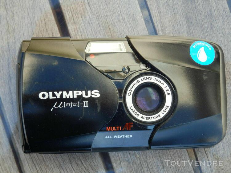 Olympus mju ii stylus epic 35mm compact film camera with 35