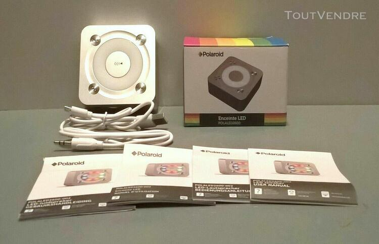 polaroid polaled 2600 mini enceinte bluetooth 5 w grise neuv