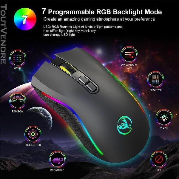 7200 dpi 7 touches définition macro programmables souris