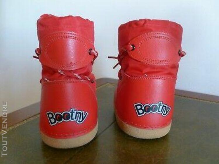"Apres ski boot de neige enfant "" bootny "" decathlon rouge t"