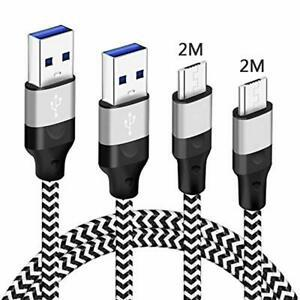 Cable Phone Chargeur, 3Pack 1M, 2M, 3M, ressort anti