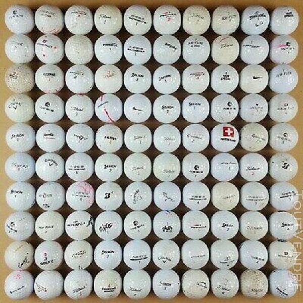 Lot de 100 balles golf titleist pro v1 callaway taylormade s