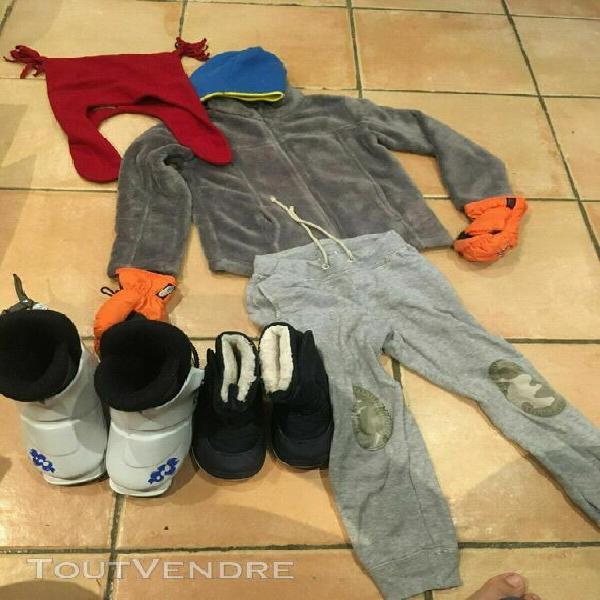 Lot vêtements et chaussures de ski 3/4 ans garçon fille