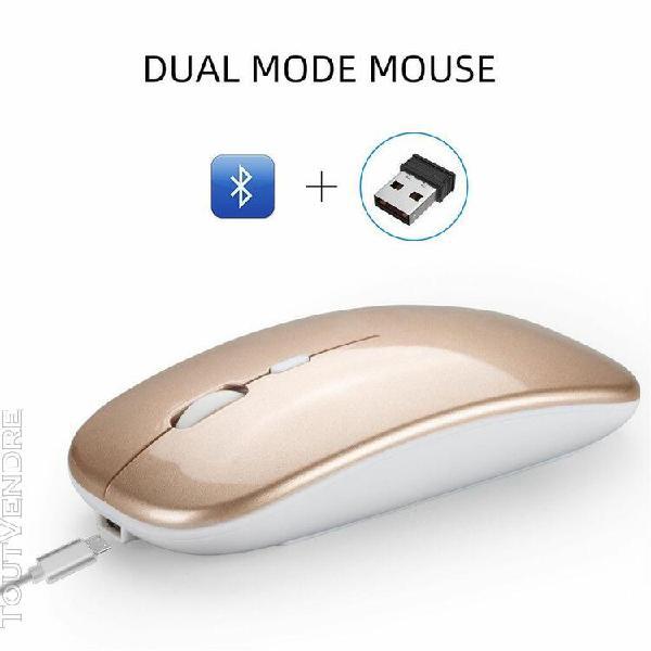 m90 rechargeable sans fil bt 5.0 usb dual mode souris gaming
