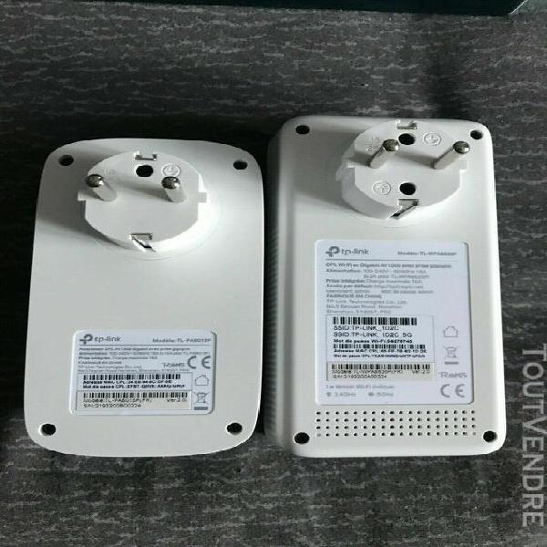 tp-link - cpl 1300 mbps wi-fi bi-bande 1350 mbps avec [tl-wp