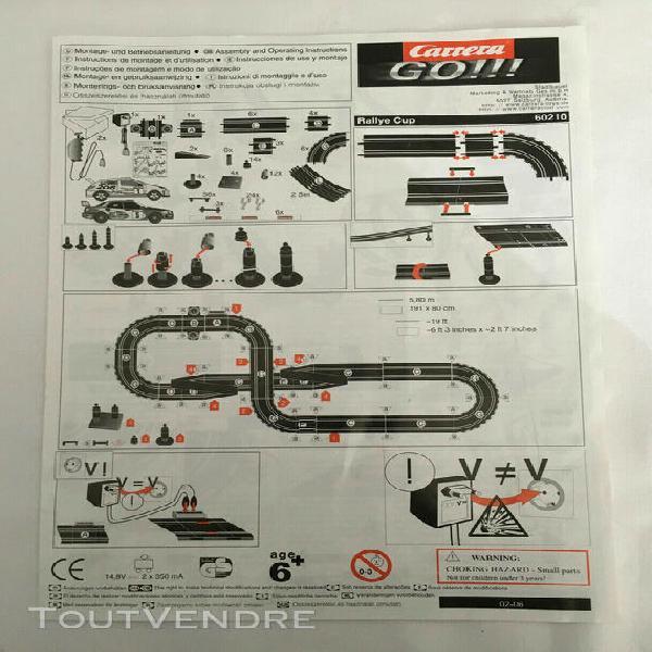 Circuit carrera go!!! rallye cup 60210 + 1 peugeot 206 wrc 1
