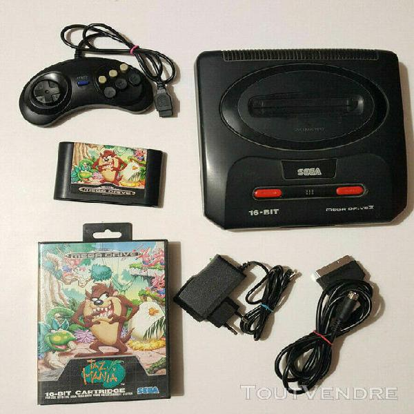 Console sega mega drive 2 ii (pad, alimentation, cable vide