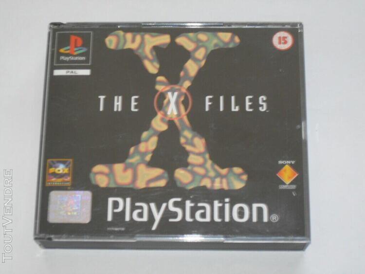 Jeu vidéo sony ps1 playstation 1 psone the x-files x files