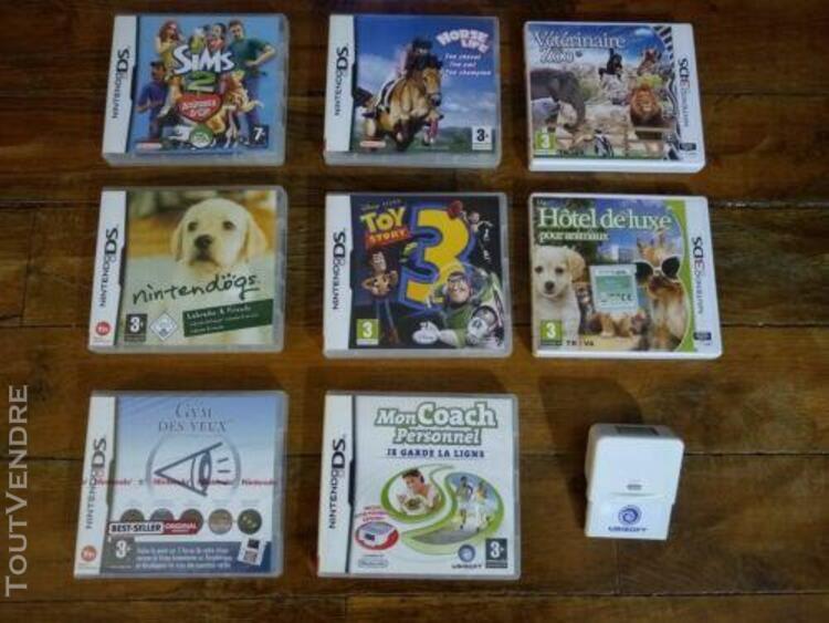 Jeux ds / 3ds - lot de 8 jeux