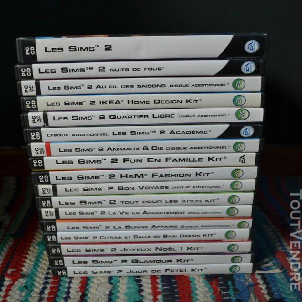 Jeux pc lot 17 jeux sims 2 + add ons