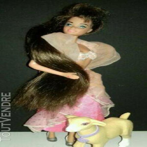 Poupée mannequin barbie vintage ultra longue chevelure