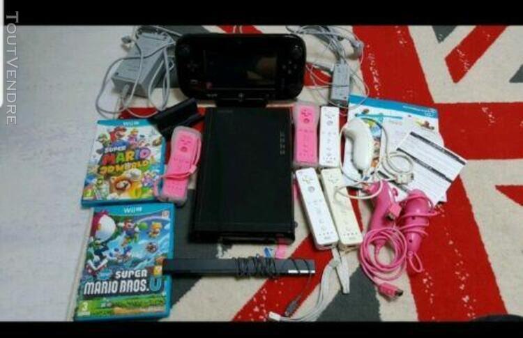 Wii u + 4jeux + 5 manette