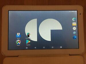 Tablette 10.1 android continental edison blanche avec étui