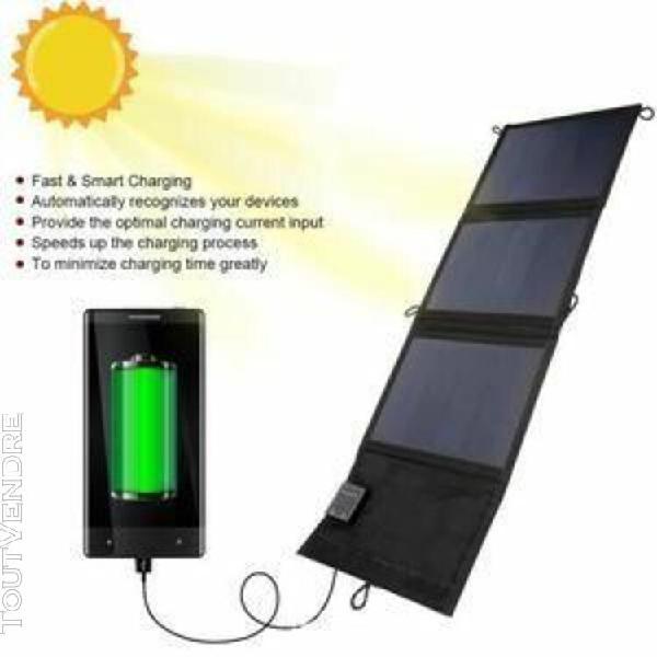 20w portable double pliable haute conversion panneau solaire