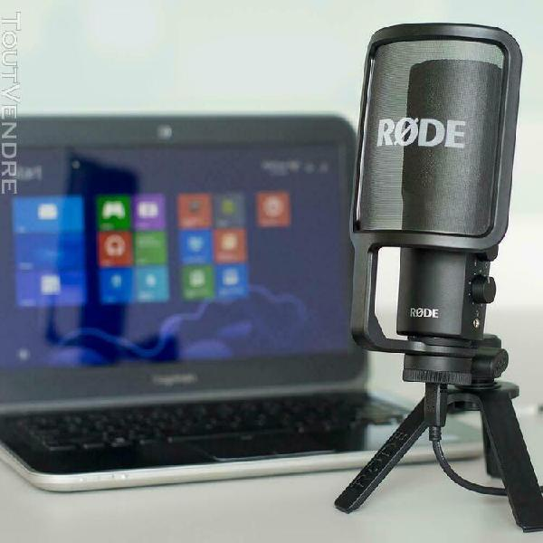 Microphone usb qualité studio røde nt-usb - noir
