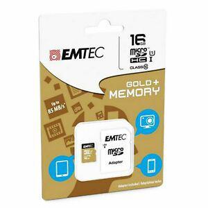 Carte mémoire micro sd sdhc 16go 16gb emtec gold+ mobile