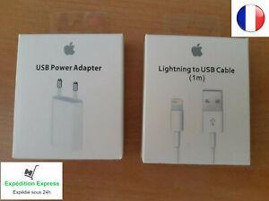 Câble lightning + chargeur a1400 originale apple pour