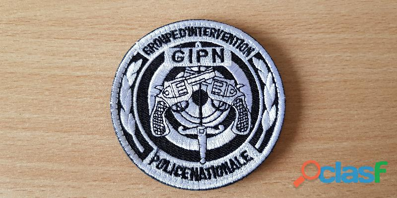 Ecusson brodé gipn groupe d'intervention police nationale