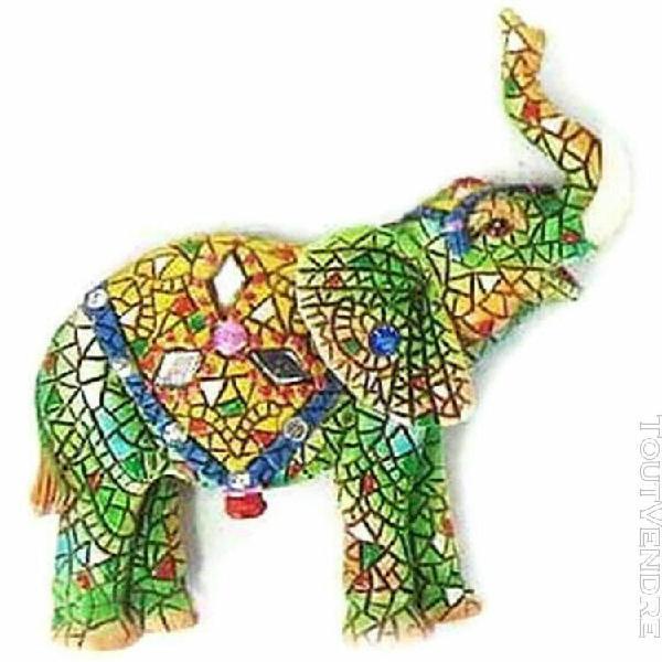 Magnet elephant jaune resine 9 x 6 cm