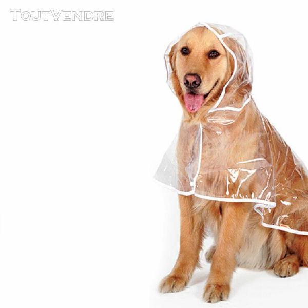 Transparent chien impermeable de grande taille pour chiens d