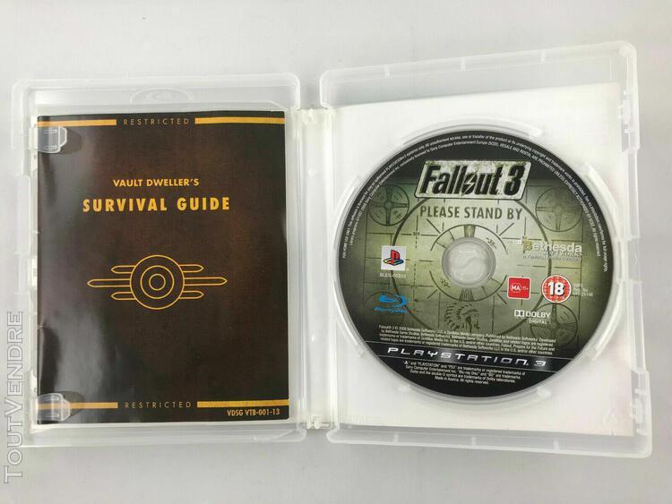 Fallout 3 ps3 - jeu vidéo playstation 3 complet avec le