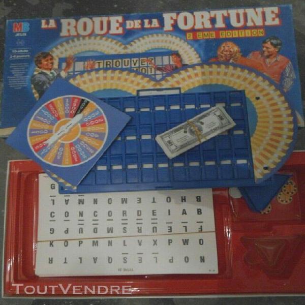 La roue de la fortune 1987 mb bradley jeu de société