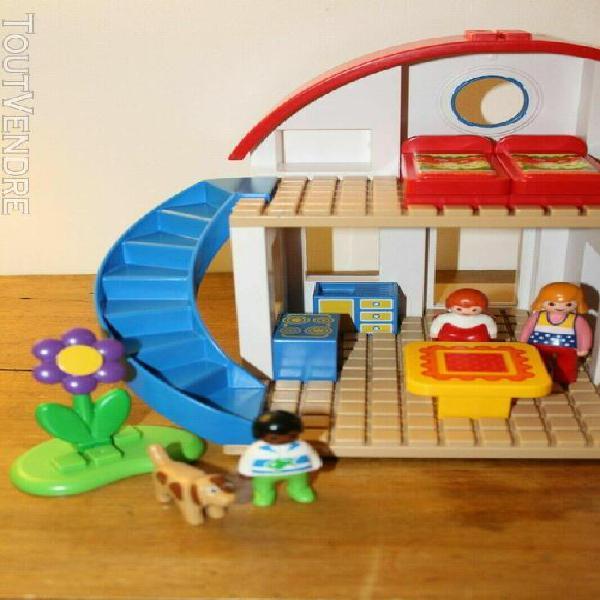 Playmobil 123 maison 6784 piscine 6781 maison piscine person