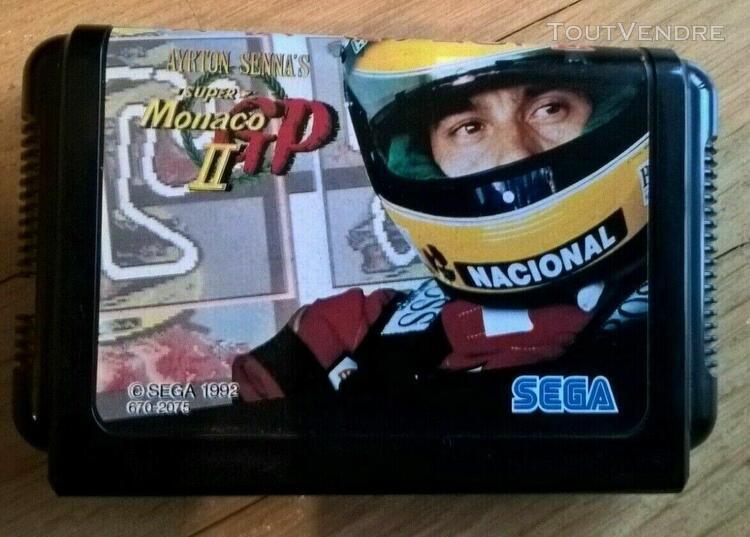 Sega mega drive ayrton senna's super monaco gp ii en boite