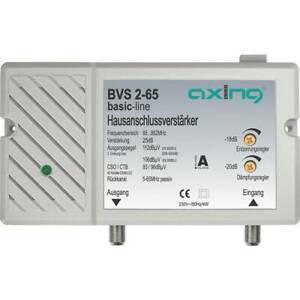 Amplificateur de raccordement dimmeuble 30 db axing bvs 2-65