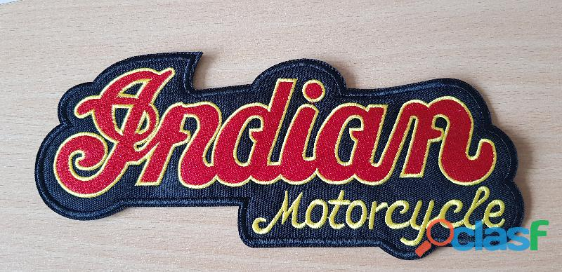 Ecusson brodé indian motorcycle taille l 23x9 cm thermocollant