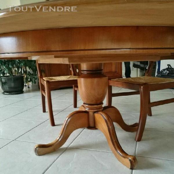 Table et 4 chaises merisier louis philippe